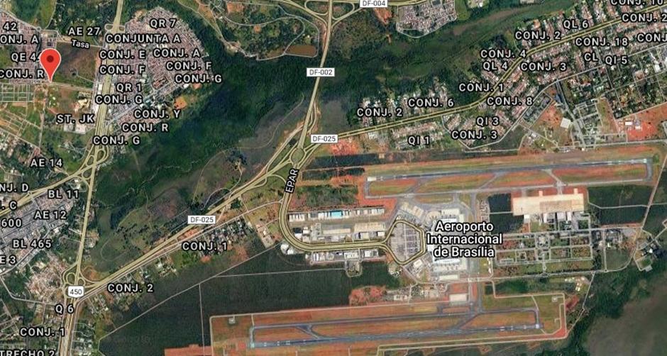 Vista satelital QTH de Martin, en Brasilia DF, capital de Brasil
