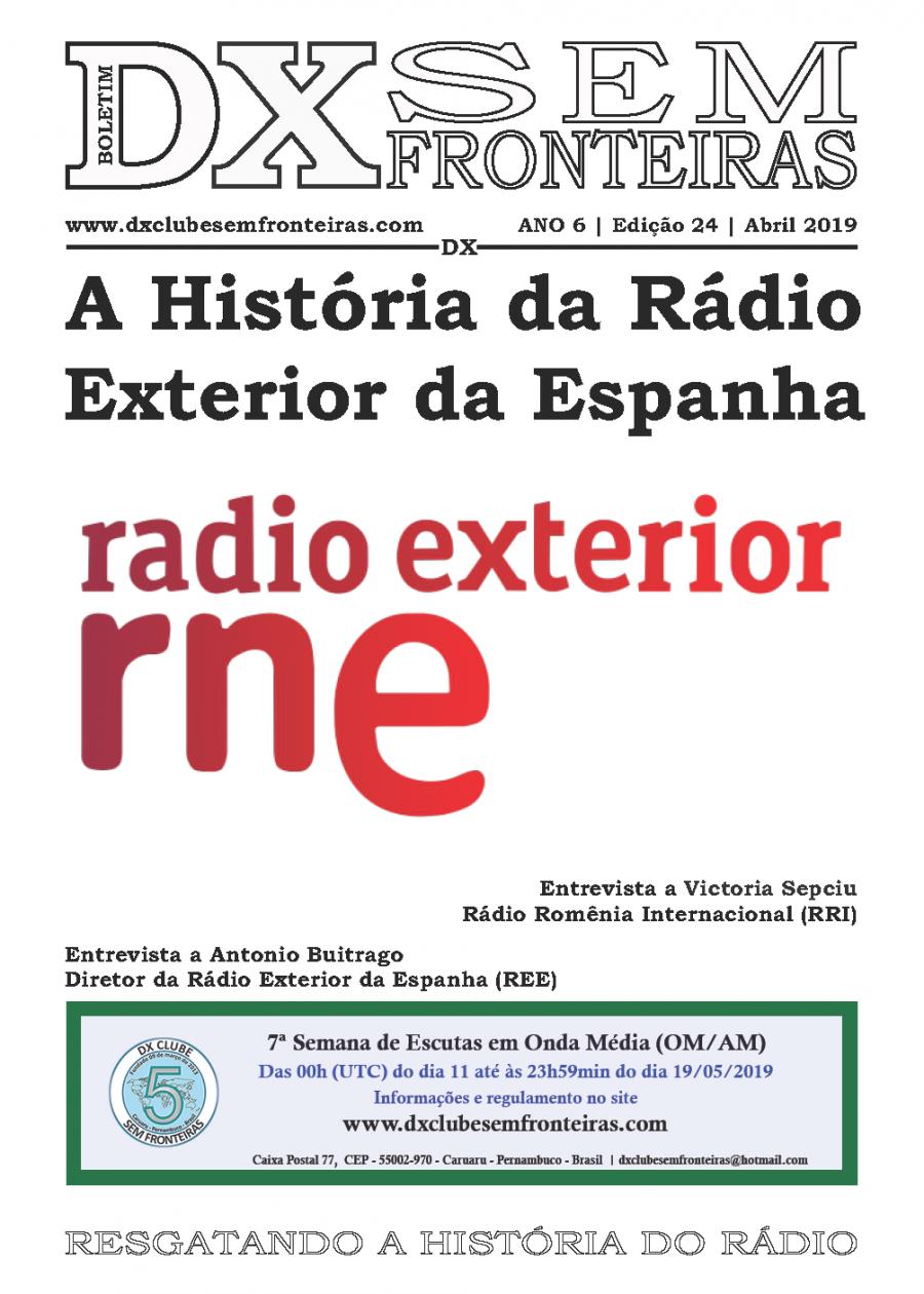 Boletín del DX Clube Sem Frontieras, desde Brasil. Nº 24 de abril de 2019